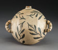 American Indian Art:Pottery, A Cochiti Black-On-Cream Canteen. ...