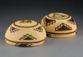 American Indian Art:Baskets, Two Northern California Twined Maiden's Caps. c. 1900... (Total: 2Items)