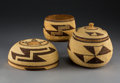 American Indian Art:Baskets, Three California Twined Basketry Items. c. 1900... (Total: 3 Items)