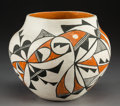 American Indian Art:Pottery, An Acoma Polychrome Jar. S. Concho...