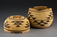 Two Northern California Twined Basketry Items c. 1900