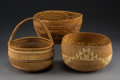 American Indian Art:Baskets, Three California Twined Bowls... (Total: 3 Items)