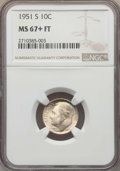Roosevelt Dimes, 1951-S 10C MS67+ Full Bands NGC. NGC Census: (91/1 and 5/0+). PCGS Population: (76/8 and 16/0+). Mintage 31,630,000. ...