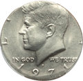Errors, 1971-D 50C Kennedy Half Dollar -- Struck on a Clad Quarter Blank -- MS66 PCGS Secure....
