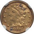 Classic Quarter Eagles, 1839-C $2 1/2 -- Mount Removed -- NGC Details. XF. Mintage 18,140....