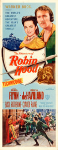 """Movie Posters:Swashbuckler, The Adventures of Robin Hood (Warner Brothers, R-1948). Insert (14""""X 36"""").. ..."""