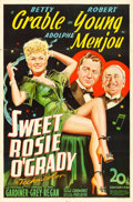 "Movie Posters:Musical, Sweet Rosie O'Grady (20th Century Fox, 1943). One Sheet (27"" X 41"").. ..."