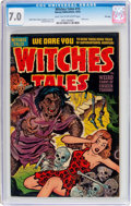Golden Age (1938-1955):Horror, Witches Tales #15 File Copy (Harvey, 1952) CGC FN/VF 7.0 Light tanto off-white pages....
