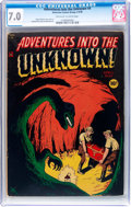 Golden Age (1938-1955):Horror, Adventures Into The Unknown #4 (ACG, 1949) CGC FN/VF 7.0 Off-whiteto white pages....