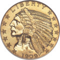 Proof Indian Half Eagles, 1909 $5 PR68 NGC....