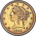Liberty Half Eagles, 1840-C $5 MS64+ PCGS. CAC....
