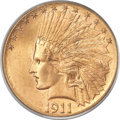Indian Eagles, 1911-S $10 MS66 PCGS. CAC....