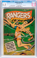 Golden Age (1938-1955):Miscellaneous, Rangers Comics #39 (Fiction House, 1948) CGC FN+ 6.5 Off-white to white pages....