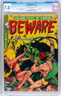 Golden Age (1938-1955):Horror, Beware #12 (Youthful Magazines, 1952) CGC FN/VF 7.0 Off-white towhite pages....