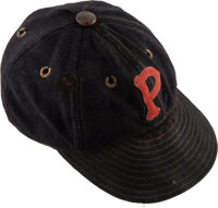 1931-33 Paul Waner Game Worn Pittsburgh Pirates Cap, MEARS Authentic