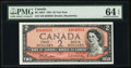 Canadian Currency, BC-38bT $2 1954 Test Note S/R Prefix. ...