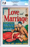 """Golden Age (1938-1955):Romance, Love and Marriage #11 Davis Crippen (""""D"""" Copy) Pedigree (SuperiorComics, 1953) CGC FN/VF 7.0 Off-white pages...."""