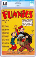 Platinum Age (1897-1937):Miscellaneous, The Funnies #10 (Dell, 1937) CGC FN- 5.5 Light tan to off-whitepages....