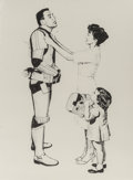 Prints & Multiples, Mr. Brainwash (French, b. 1966). Late for Work (Stormtrooper), 2010. Screenprint on wove paper. 30 x 22 inches (76.2 x 5...
