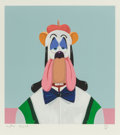 Prints & Multiples, George Condo (American, b. 1957). Droopy Dog Abstraction, 2017. Screenprint in colors on wove paper. 18 x 16 inches (45....