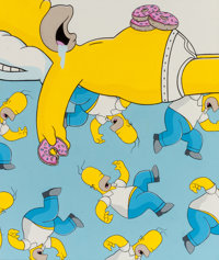 Jerkface (American, 20th Century) Homer Simpson, n.d. Acrylic on canvas 23-3/4 x 20 inches (60.3