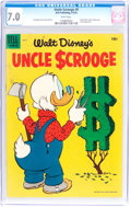 Golden Age (1938-1955):Cartoon Character, Uncle Scrooge #9 (Dell, 1955) CGC FN/VF 7.0 White pages....
