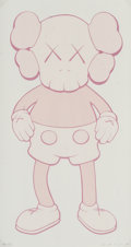 Fine Art - Work on Paper:Print, KAWS (American, b. 1974). Companion (Pink), 2001.Screenprint in colors on wove paper. 17 x 9 inches (43.2 x 22.9 cm)(s...
