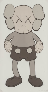 KAWS (American, b. 1974) 99 Companion (Gray), 2001 Screenprint in colors on wove paper 17 x 9 inc