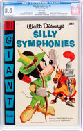 Golden Age (1938-1955):Cartoon Character, Dell Giant Comics: Silly Symphonies #6 (Dell, 1955) CGC VF 8.0 White pages....
