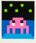 Prints & Multiples, Invader (French, b. 1969). Space One-Pink, 2013. Screenprint in colors with embossing on wove paper. 14-3/4 x 15 inches ...