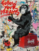 Mr. Brainwash (French, b. 1966) Follow Your Dreams, 2012 Screenprint with spray paint and mixed media on paper 30 x 2