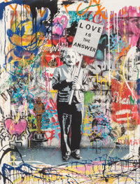 Mr. Brainwash (French, b. 1966) Love is the Answer (Einstein), 2012 Screenprint with spray paint and