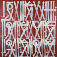 RETNA (American, b. 1979) Untitled, n.d. Acrylic on canvas 74 x 74-1/2 inches (188.0 x 189.2 cm)<