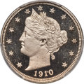 Proof Liberty Nickels, 1910 5C PR68 Deep Cameo PCGS Secure. CAC....