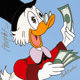 """Whoa, I See Money"" Scrooge McDuck Ceramic Art Tile Artist's Proof Signed by Carl Barks (Walt Disney, 1995)..."
