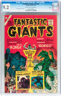 Fantastic Giants V2#24 Boston pedigree (Charlton, 1966) CGC NM- 9.2 Off-white to white pages