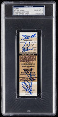 Autographs:Others, 1990 Nolan Ryan Signed 300 Win Full Ticket, PSA/DNA GEM MINT 10. ....