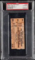 Football Collectibles:Uniforms, 1952 NFL Championship Game Lions Vs. Browns Ticket Stub, PSA/DNA Authentic. . ...