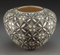 American Indian Art:Pottery, An Acoma Black-On-White Jar. L. Patricio...