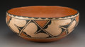 American Indian Art:Pottery, A Santo Domingo Polychrome Dough Bowl. c. 1930...