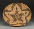 American Indian Art:Baskets, A White Mountain Apache Coiled Tray . c. 1900...
