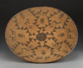 American Indian Art:Baskets, An Apache Pictorial Coiled Tray. c. 1900...