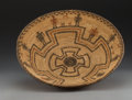 American Indian Art:Baskets, An Apache Polychrome Pictorial Coiled Bowl. c. 1900...