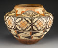 American Indian Art:Pottery, A Laguna Polychrome Storage Jar. c. 1925...