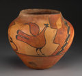 American Indian Art:Pottery, A Zia Polychrome Storage Jarc. clay, p...