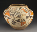 American Indian Art:Pottery, An Acoma Polychrome Storage Jarc. clay...