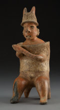 Pre-Columbian:Ceramics, A Nayarit Seated Warrior ...