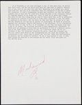 "Autographs:Letters, Muhammad Ali Signed Quote from ""To Everyone an Answer: A Case forthe Christian Worldview."" . ..."
