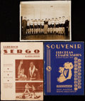 Autographs:Others, Ulderico Sergo 1936 Berlin Olympics Ephemera Lot.. ...