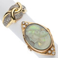 Estate Jewelry:Rings, Diamond, Opal, Gold Rings . ... (Total: 2 Items)